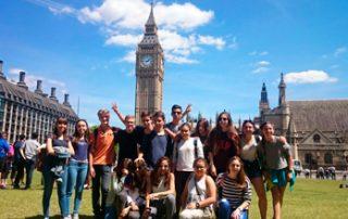 Estudiantes en Londres